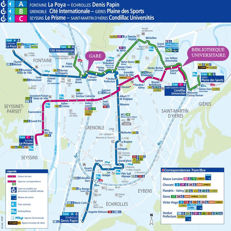 Map of Tram